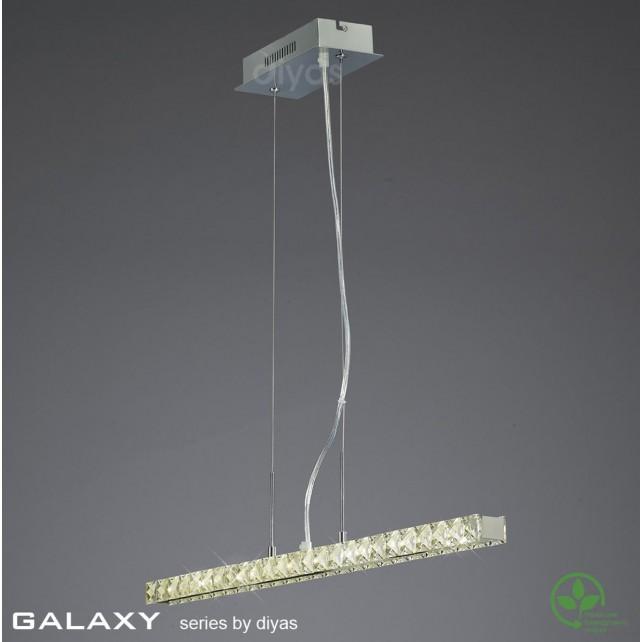 Diyas Galaxy Linear Pendant 3600K 36X0.5W LED Chrome/Crystal