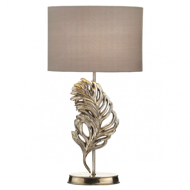 Glebe Table Lamp - Antique Silver, Complete with Shade