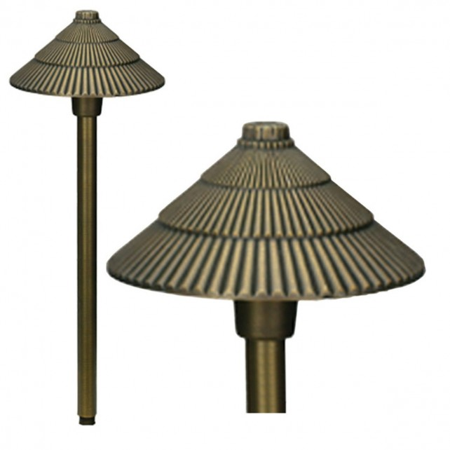 Garden Zone GZ/BRONZE16 Bronze Round Pagonda Light - Aged Bronze