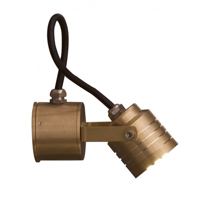 Garden Zone GZ/ELITE4 Elite Directional Wall fitting - Solid Natural Brass