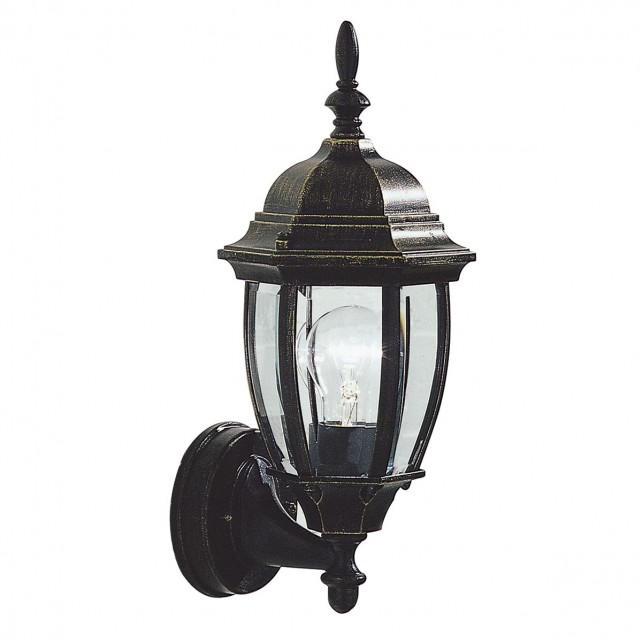Hambro Wall Lantern - Up Lantern Black/Gold