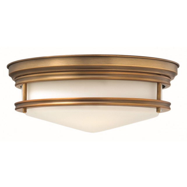 Hinkley Lighting HK/HADLEY/F BR Hadley 3 - Light Flush Light Brushed Bronze