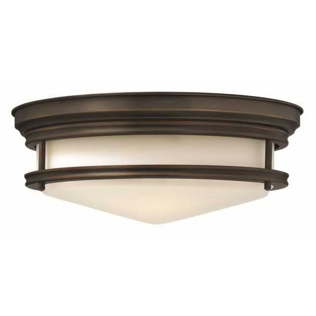 Hinkley Lighting HK/HADLEY/F OZ Hadley 3 - Light Flush Light Oil Rubbed Bronze