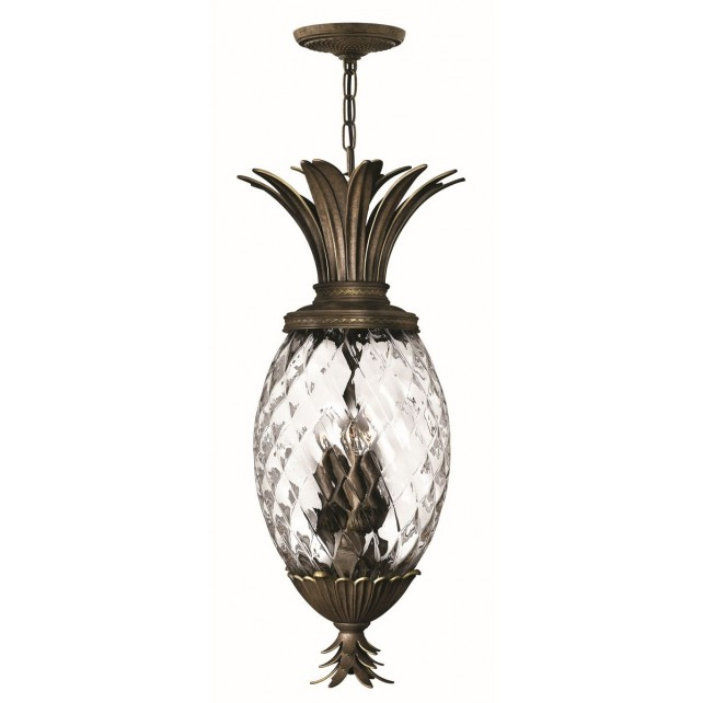 Hinkley Lighting HK/PLANT4/P PZ Plantation 4 - Light Pentant Pearl Bronze