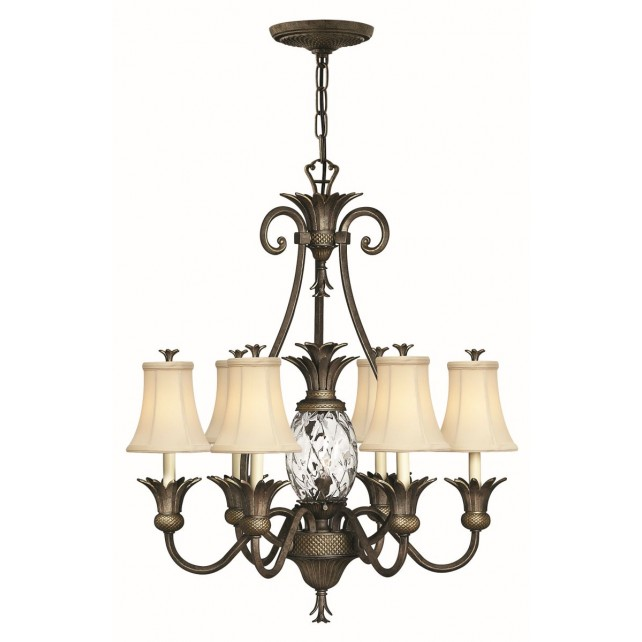 Hinkley Lighting HK/PLANT7 PZ Plantation 7 - Light Chandelier Pearl Bronze