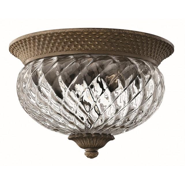 Hinkley Lighting HK/PLANT/F/S PZ Plantation 2 - Light Small Flush Light Pearl Bronze