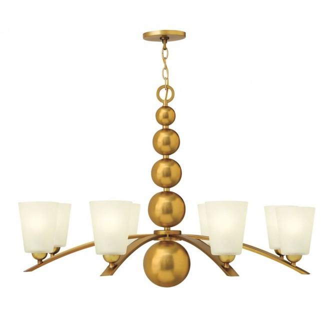 Hinkley Lighting HK/ZELDA8 VS Zelda 8 - Light Chandelier Vintage Brass