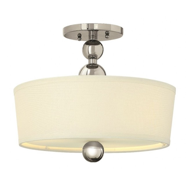 Hinkley Lighting HK/ZELDA/SF PN Zelda 3 - Light Semi-Flush Light Polished Nickel