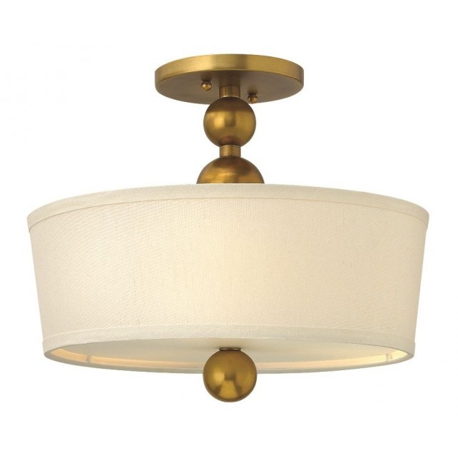 Hinkley Lighting HK/ZELDA/SF VS Zelda 3 - Light Semi-Flush Light Vintage Brass