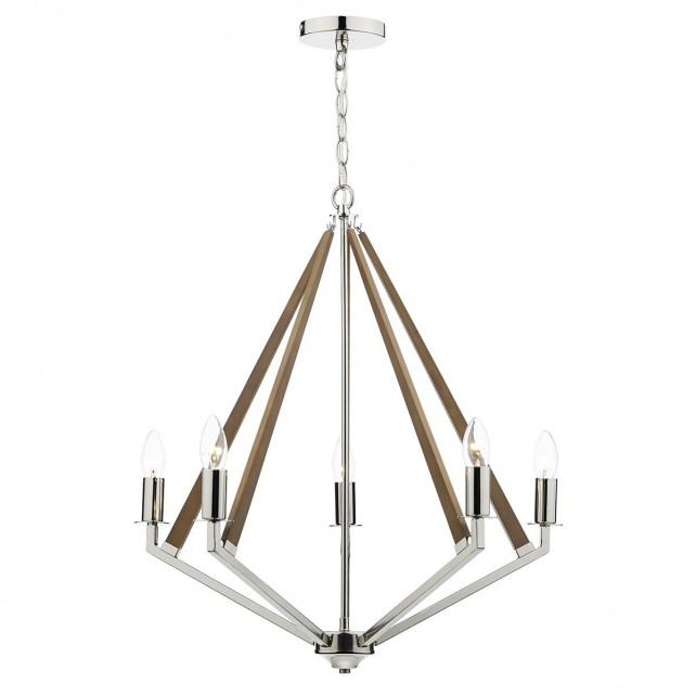 Dar Hotel 5-Light Pendant Polished Nickel