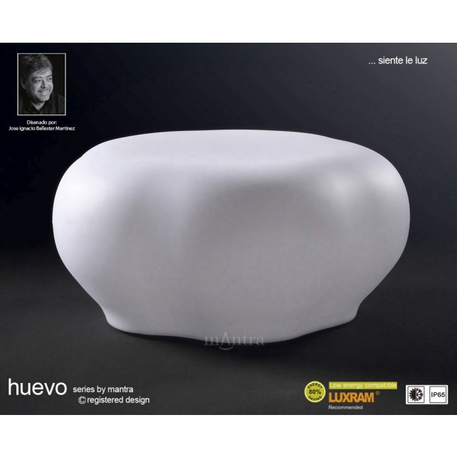 Huevo Stool 1 Light Outdoor IP65 White