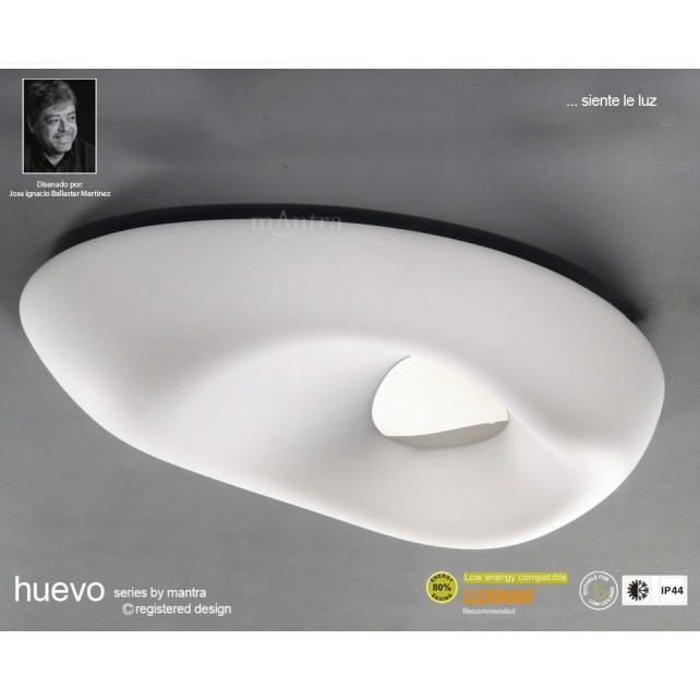 Huevo Ceiling 6 Light Outdoor IP44 White
