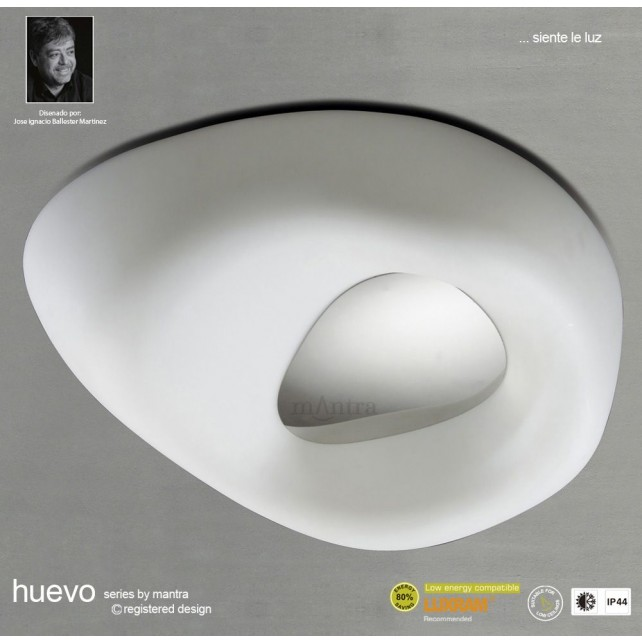 Huevo Ceiling 4 Light Outdoor IP44 White