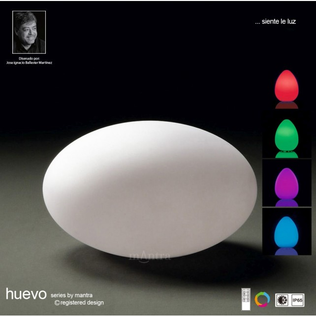Huevo Oval Table Lamp Induction LED RGB Outdoor IP65