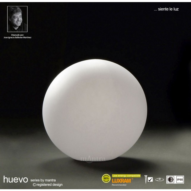 Huevo Small Ball Table Lamp 1 Light Outdoor IP65 White