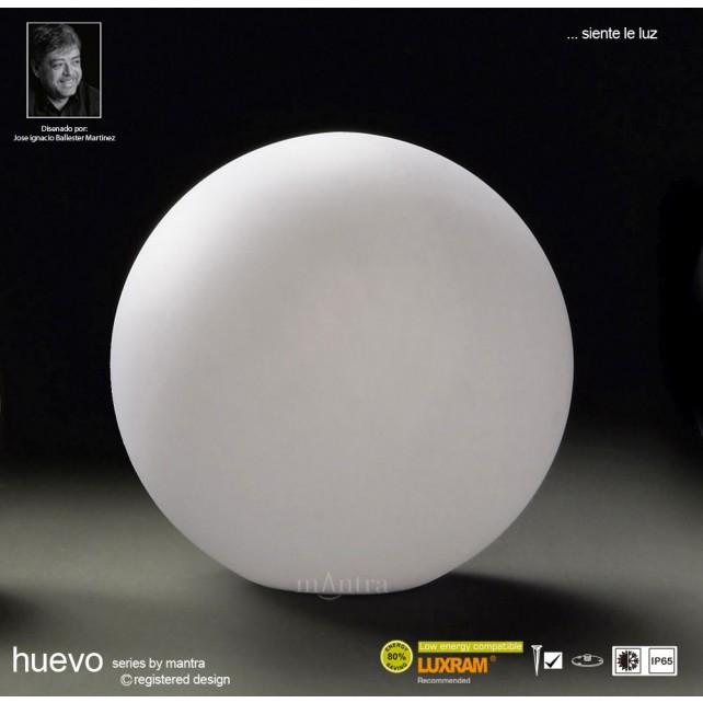 Huevo Medium Ball Table Lamp 1 Light Outdoor IP65 White
