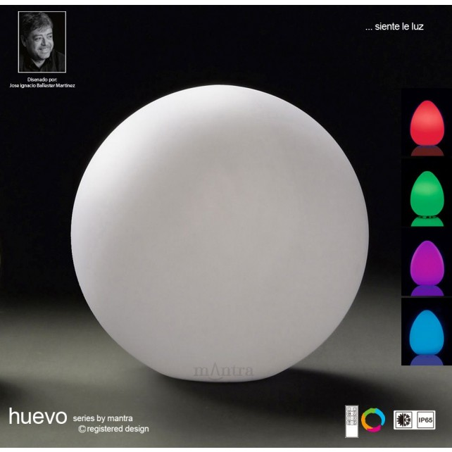 Huevo Medium Ball Table Lamp Induction LED RGB Outdoor IP65