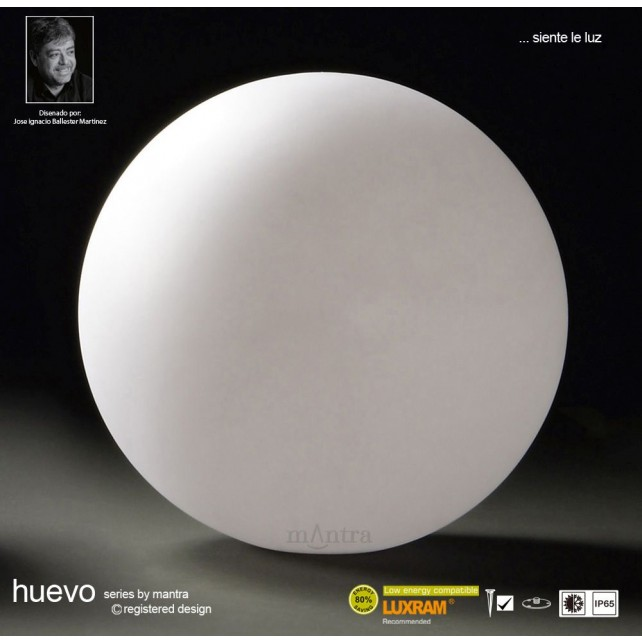 Huevo Large Ball Table Lamp 1 Light Outdoor IP65 White