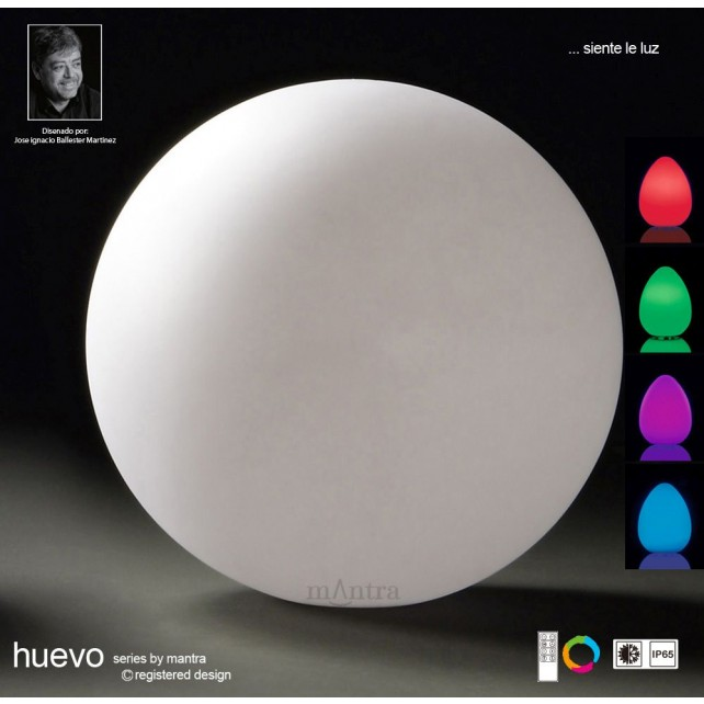 Huevo Large Ball Table Lamp Induction LED RGB Outdoor IP65