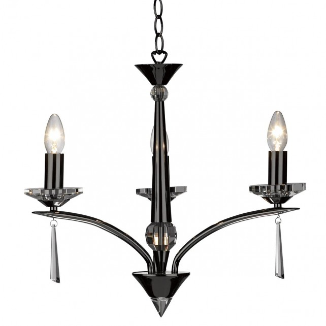 Hyperion Ceiling Light (Dual Mount) - 3 Light Black Chrome