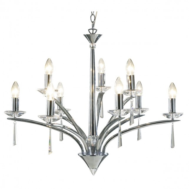 Hyperion Ceiling Light (Dual Mount) - 9 Light Polished Chrome