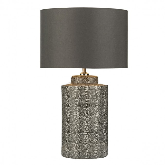 Igor Table Lamp Grey Shagreen Base Only