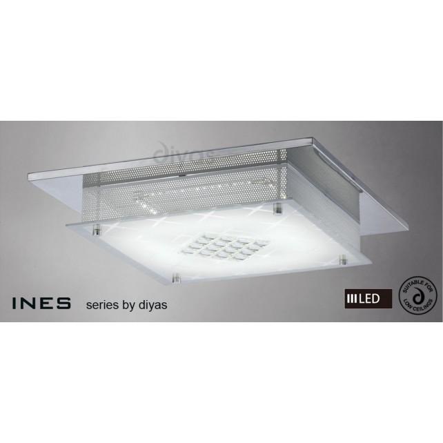 Diyas Ines Ceiling 75X0.72W LED Chrome/Crystal 3600K