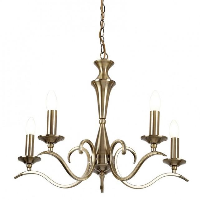 Kora Pendant Light - 5 Light - Antique Brass