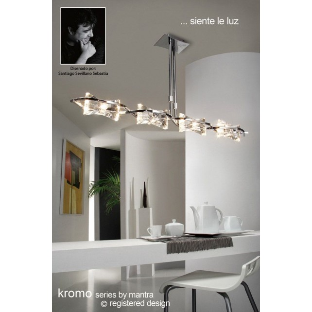 Kromo Pendant Line 4 Light Polished Chrome