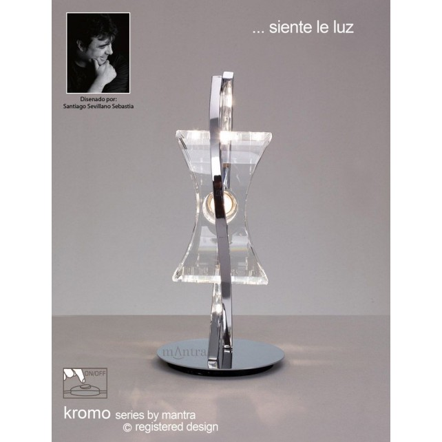 Kromo Table 1 Light Polished Chrome