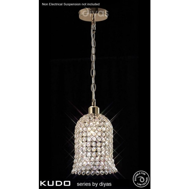 Diyas Kudo Bell Shade French Gold/Crystal