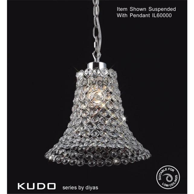 Diyas Kudo Crystal Shade Polished Chrome Non-Electrical Cone Shape