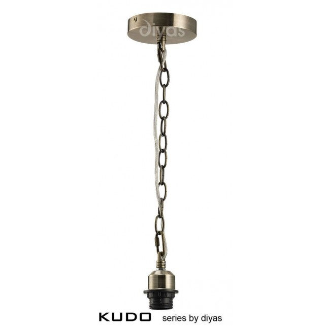 Diyas Kudo Suspension Kit 1 Light Antique Brass