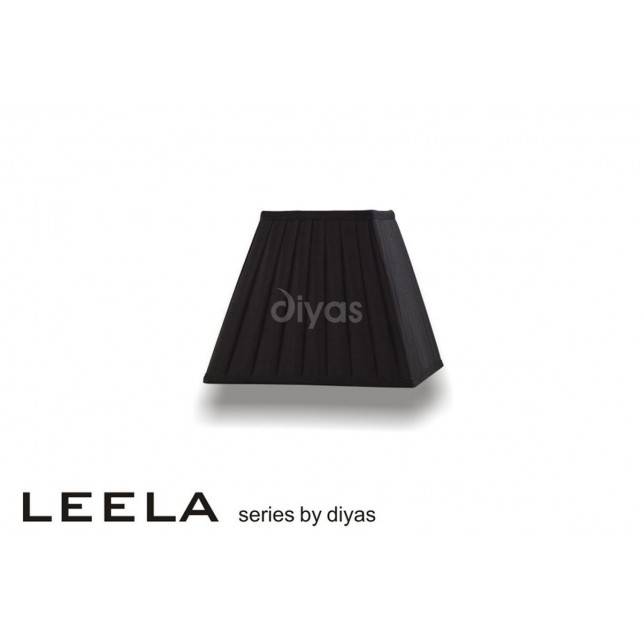 Diyas Leela Square Shade Black 200mm