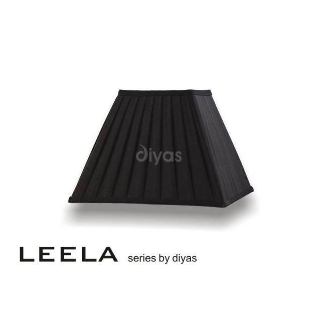 Diyas Leela Square Shade Black 300mm