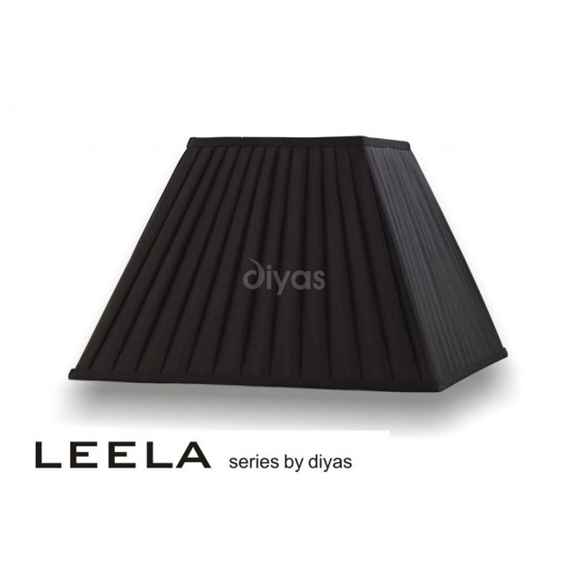 Diyas Leela Square Shade Black 400mm