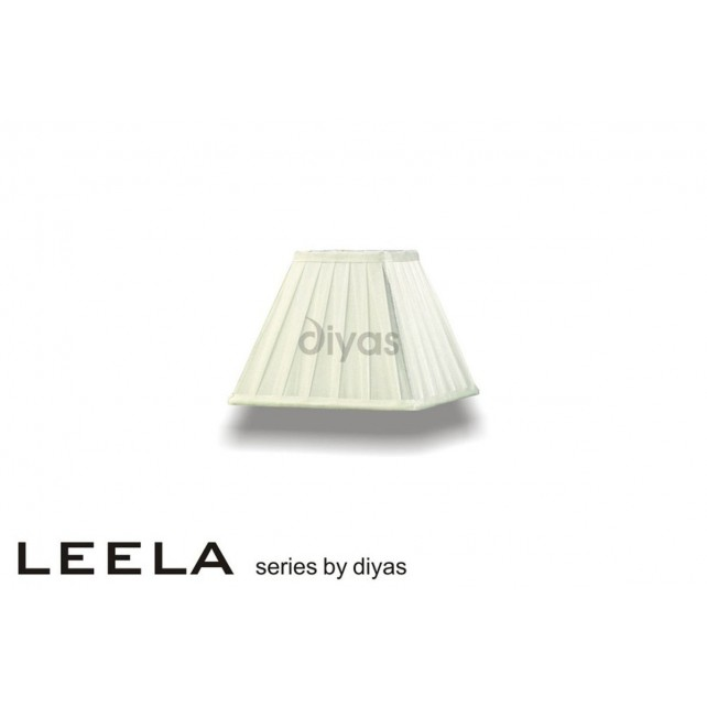 Diyas Leela Square Shade Ivory 200mm
