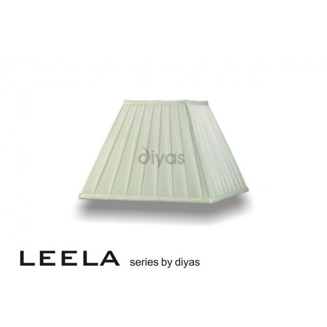 Diyas Leela Square Shade Ivory 300mm