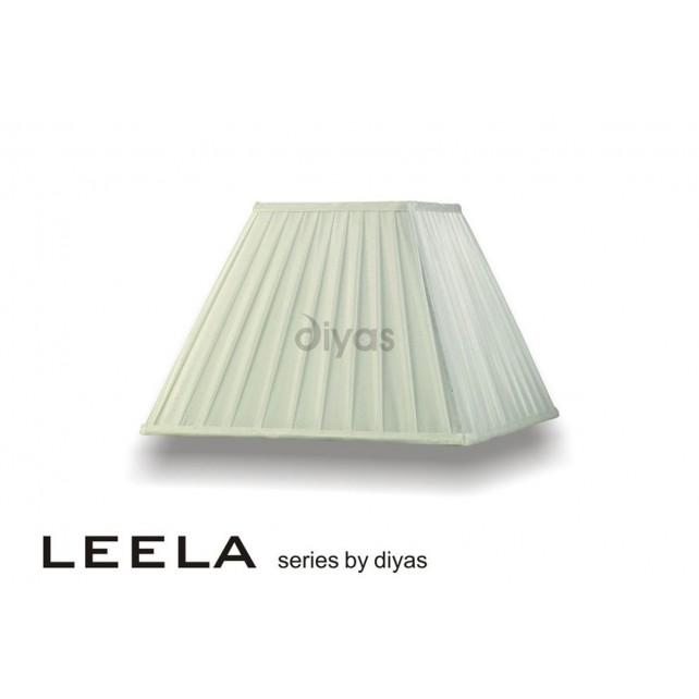 Diyas Leela Square Shade Ivory 350mm