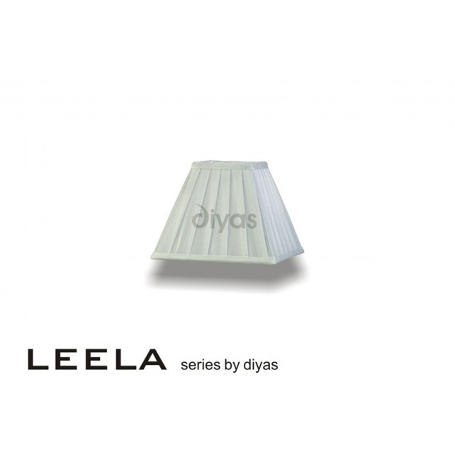 Diyas Leela Square Shade White 200mm