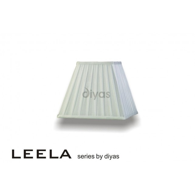 Diyas Leela Square Shade White 250mm