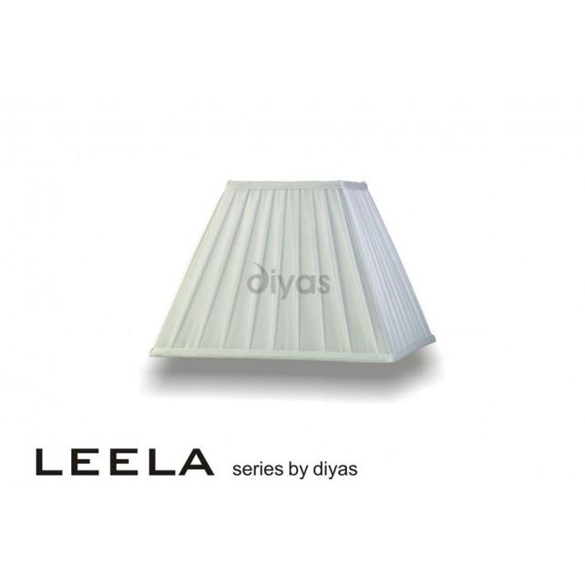 Diyas Leela Square Shade White 300mm