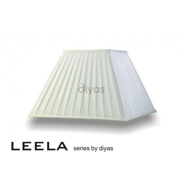 Diyas Leela Square Shade White 400mm