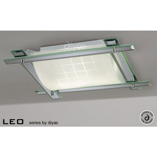 Diyas Leo Ceiling 3 Light Polished Chrome