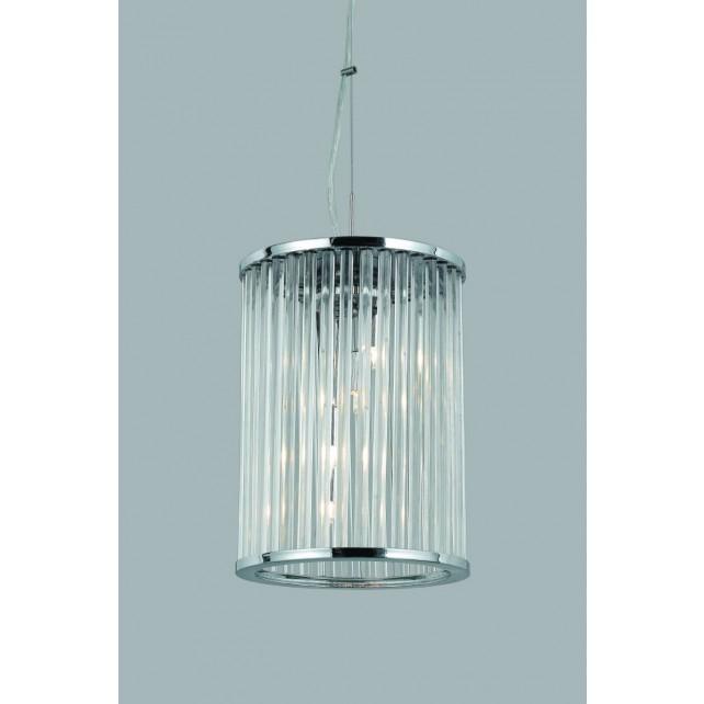 Impex Oklahoma Lantern - 4 Light, Polished Chrome