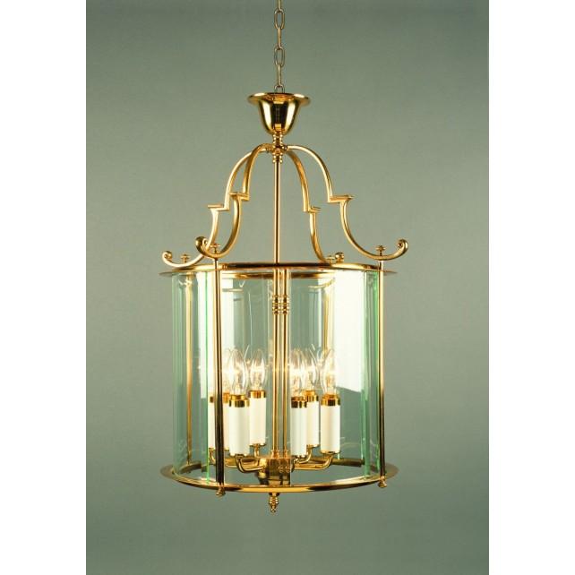 Impex Colchester Lantern Polished Brass - 6 Light