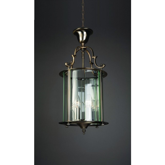 Impex Colchester Lantern Antique Brass - 3 Light