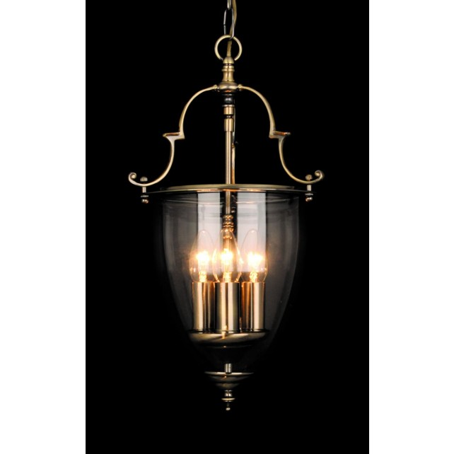 Impex Norfolk Lantern - 3 Light, Antique Brass and Gold
