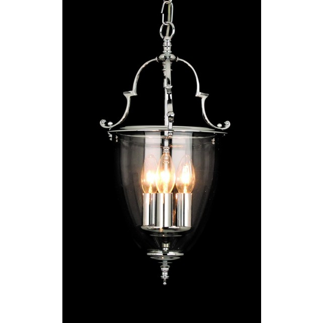 Impex Norfolk Lantern - 3 Light, Polished Chrome