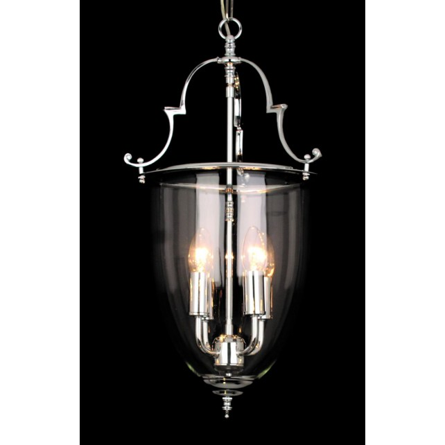 Impex Norfolk Lantern - 4 Light, Polished Chrome